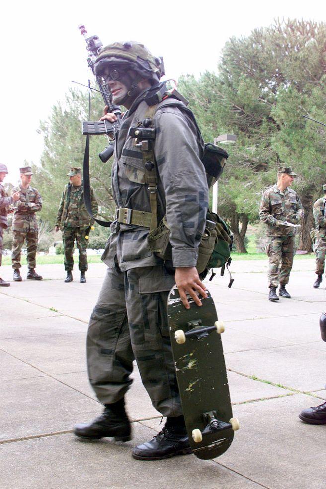 Military skateboard