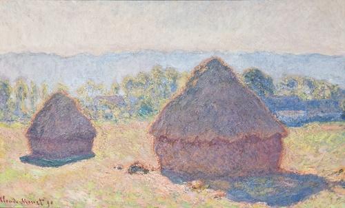 Haystacks Bright Sunlight