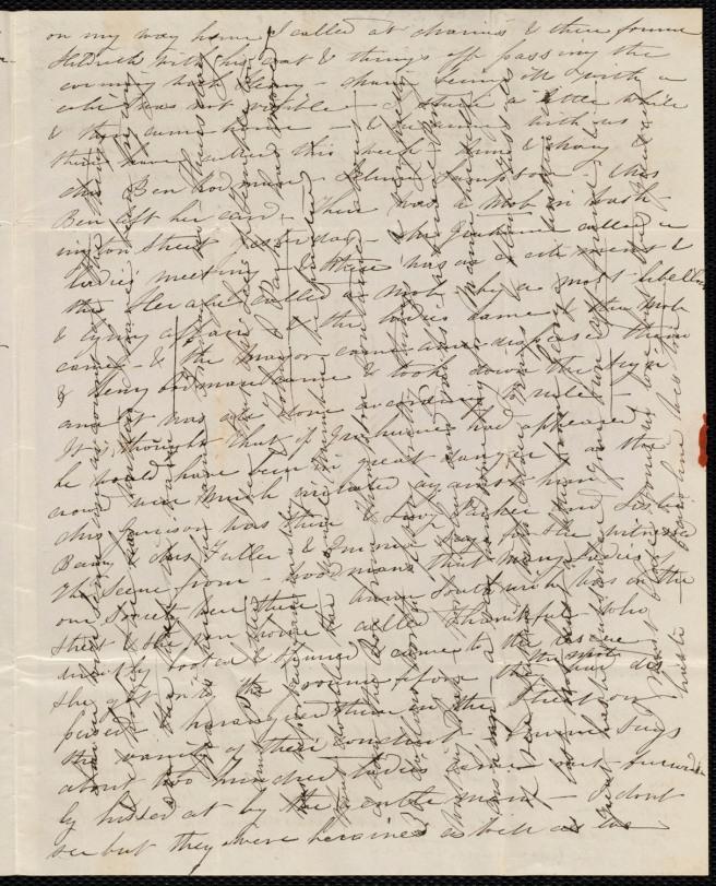Crossed letter